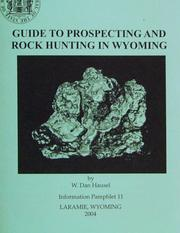 Cover of: Guide to Prospecting and Rock Hunting in Wyoming by W. Dan Hausel