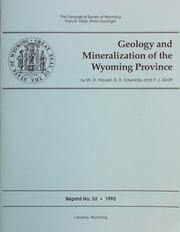 Cover of: Geology and Mineralization of the Wyoming Province by W. Dan Hausel, B.R. Edwards