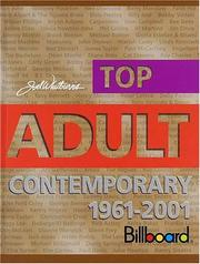 Cover of: Joel Whitburn's top adult contemporary, 1961-2001