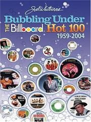Cover of: Joel Whitburn's bubbling under the Billboard hot 100, 1959-2004