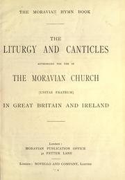 Cover of: The Liturgy and Canticles