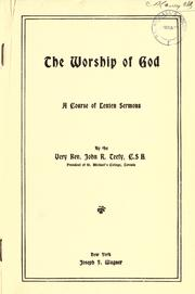 Cover of: The Worship of God