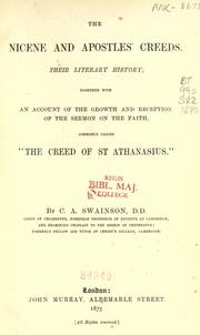 Cover of: The Nicene and Apostles' creeds