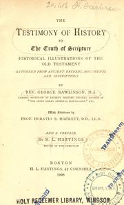 Cover of: The testimony of the truth of scripture