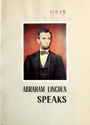 Cover of: Abraham Lincoln speaks