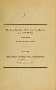 Cover of: The Congo Expedition of the American Museum of Natural History