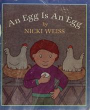 Cover of: An egg is an egg