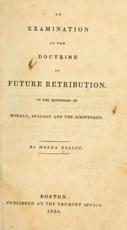 Cover of: An examination of the doctrine of future retribution