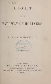 Cover of: Light on the pathway of Holiness | L. D. M