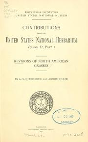 Cover of: Revisions of North American grasses
