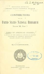 Cover of: Types of American grasses