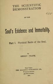 Cover of: The scientific demonstration of the soul