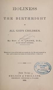 Cover of: Holiness the birthright of all God's children