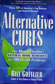 Cover of: Alternative cures | Bill Gottlieb