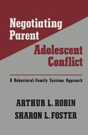 Cover of: Negotiating parent-adolescent conflict