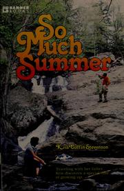 Cover of: So much summer