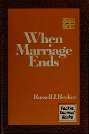 Cover of: When marriage ends