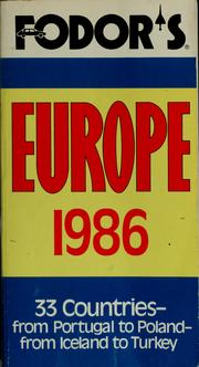 Cover of: Fodor's Europe, 1986