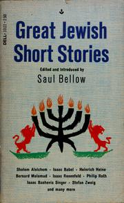 Cover of: Great Jewish short stories