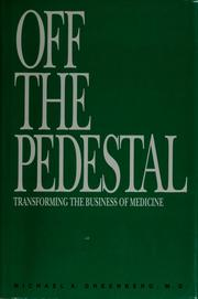 Cover of: Off the pedestal | Michael A. Greenberg
