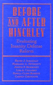 Cover of: Before and after Hinckley |