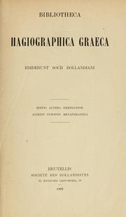 Cover of: Bibliotheca hagiographica graeca by Bollandists