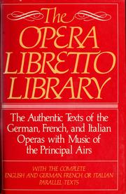 Cover of: Opera Libretto Library | RH Value Publishing