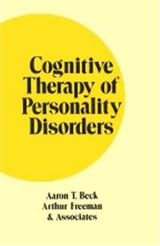 Cover of: Cognitive therapy of personality disorders