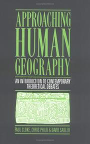 Cover of: Approaching human geography