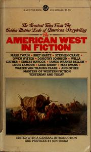 Cover of: The American West in fiction
