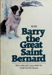 Cover of: Barry the Great Saint Bernard