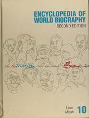 Cover of: Encyclopedia of World Biography Supplement |