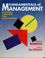Fundamentals of Management by Stephen P. Robbins