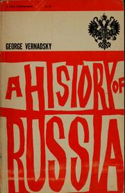 A history of Russia by Vernadsky, George