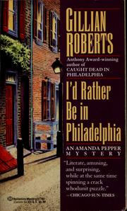 Cover of: I'd rather be in Philadelphia