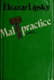 Cover of: Malpractice