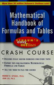 Cover of: Mathematical handbook of formulas and tables