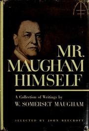 Cover of: Mr. Maugham himself: selections.