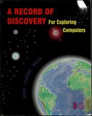 Cover of: A record of discovery for exploring computers | Gary B. Shelly