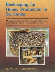 Cover of: Beekeeping for honey production in Sri Lanka