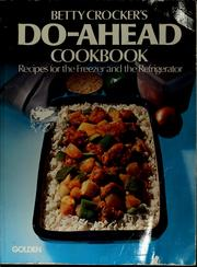 Do-ahead cookbook by Betty Crocker