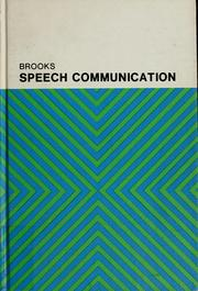 Speech communication by William Dean Brooks