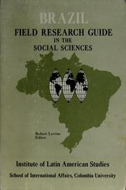 Cover of: Brazil: field research guide in the social sciences