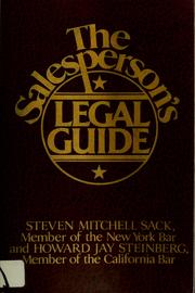 Cover of: The salesperson's legal guide