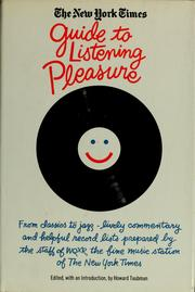 Cover of: The New York Times guide to listening pleasure