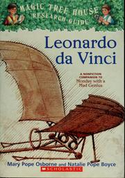 Cover of: Leonardo da Vinci: a nonfiction companion to Monday with a mad genius