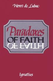 Cover of: Paradoxes of faith