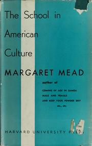 Cover of: The school in American culture