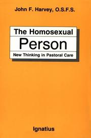 Cover of: The homosexual person | Harvey, John F.