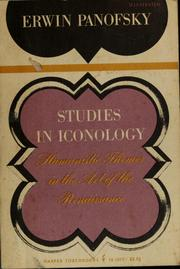 Cover of: Studies in iconology | Erwin Panofsky